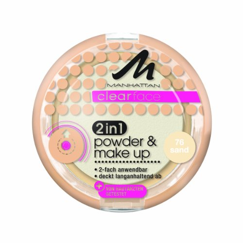 Manhattan Clear Face 2-in-1 Poudre et maquillage Teinte 76 11 g