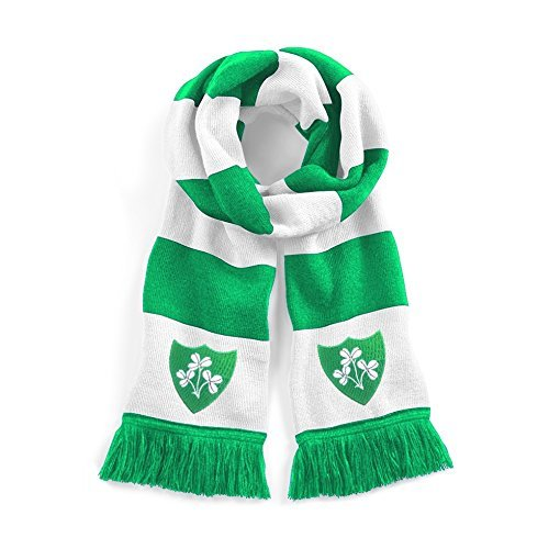 Retro Republik Irland Rugby traditionell Schal gesticktes Logo (Gestickt Rugby)