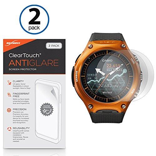 Casio wsd-f10Bildschirmschutzfolie, BoxWave® [ClearTouch AntiGlare (2er Pack)] Anti-Fingerprint Matt Folie Schutzfolie für Casio wsd-f10
