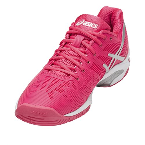 Asics Gel-Solution Speed 3, Scarpe da Ginnastica Donna rouge vif/argent/blanc