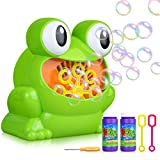 LOYO Bubble Machine, Automatic Frog Bubble Blower Machine Make Over 500 Bubbles per Minute for Kids Birthday Party, Wedding, Indoor and Outdoor Games