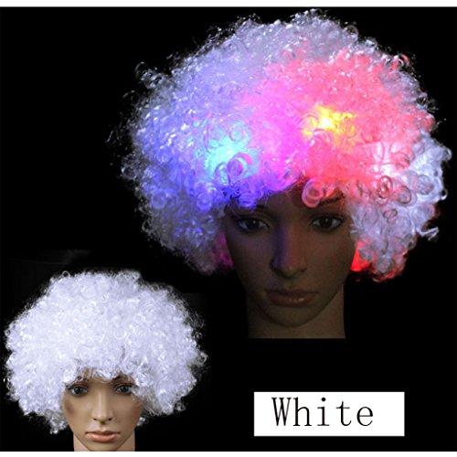 BIEE Wigs LED Flash Boom Kopf Perücke Clown Fans Weihnachten Halloween Prop Perücken Party Headwear