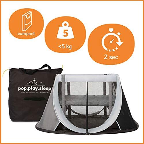 AEROMOOV - Sofort-Reisebett - ermöglicht es Ihrem Kind, ein Nickerchen zu machen, egal wo Sie sind - leicht und kompakt (Grey Rock)