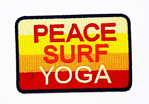 rabana Peace Surf Yoga Cartoon Kids Kinder Cute Animal Patch für Heimwerker-Applikation Eisen auf Patch T Shirt Patch Sew Iron on gesticktes Badge Schild Kostüm
