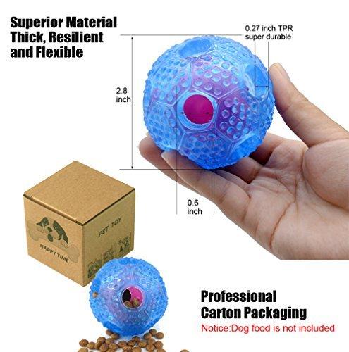 Ndier wechselwirkendes Hundespielzeug, Hundekauen-Spielball für kleine mittlere Hunde, IQ-Leckerei-Langeweile-Nahrungsmittelabgabe, am besten reinigt Zahn-Hundebälle (blau)