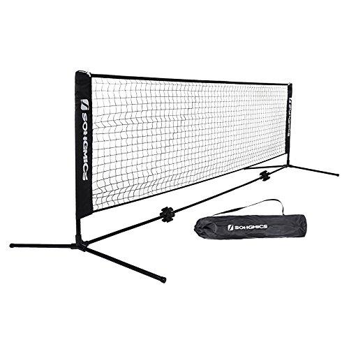 Songmics Mini Tennisnetz mit Tragetasche 3 x 1,55 m (B x H) für Schüler SYQ300H