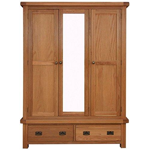 chichester-2tiroirs-en-chne-triple-armoire-en-chne-clair-finition-robe-en-bois-avec-tiroirs