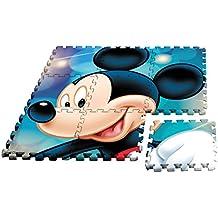 Kids Licensing–Un Tappetino in schiuma Topolino in formato Puzzle, wd17628