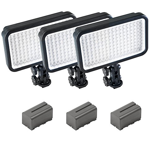 Cheap PIXAPRO® LED170 Three Units With Batteries Daylight Dimmable On Camera LED Lighting Video Interview YouTube VLOG *2 Year UK Warranty *Fast Delivery *UK Stock *VAT Registered … (Three Units, With Batteries) on Amazon