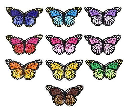 Ximkee (lot de 10) Mignon Papillons brodée patchs à coudre ou Iron on patches