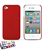 Coque Rigide Ultra-Slim APPLE IPHONE 4S [Le Pika Premium] [Rouge] de MUZZANO + STYLET...