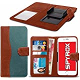 Spyrox - Timmy P7000 Pro (5.5 inch) Hochwertige Stoff Material Klemme Wallet Case in Brown and Green