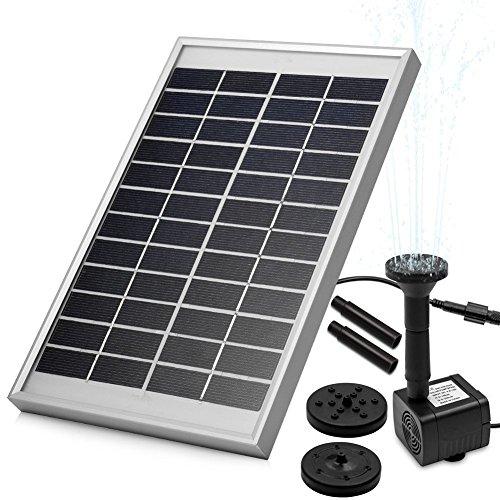 LUXJET 5W Solar Bombas para fuentes,bomba de agua solar, para el jardín, el patio, estanque, etc. Flujo máximo 380L / h