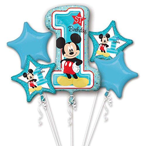 8.722.616,5cm Mickey Maus Folienballon 1. Geburtstag Bouquet ()