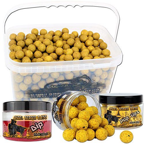 Angel Berger Session Set Boilies Pop Ups Dip (Mais, 18mm)