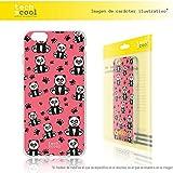 FunnyTech® Funda Silicona para Huawei Ascend P7 [Gel Silicona Flexible Alta Calidad] [Ultra Slim 1,5mm-Gran Resistencia] [Diseño Exclusivo, Impresión Alta Definición] Pandas rosa