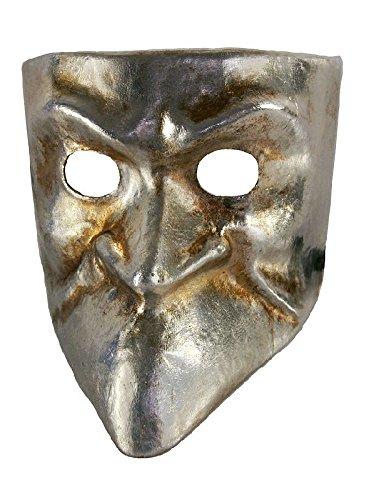 Venezianische Maske Bauta argento in silber zu Karneval ()