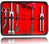 Neurologie Set für Reflexzonen und Sensibilitätsdiagnostik mit Nervenrad Reflexhammer Verbandsschere