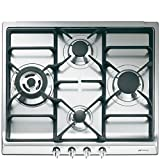 Smeg SR60GHS hobs - Placa (Integrado, Gas, Cast-iron, Giratorio, Frente, 220-240V) Acero inoxidable