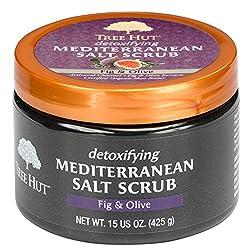 Tree Hut Detoxifying Mediterranean Salt Scrub, Fig & Olive, 15 Oz