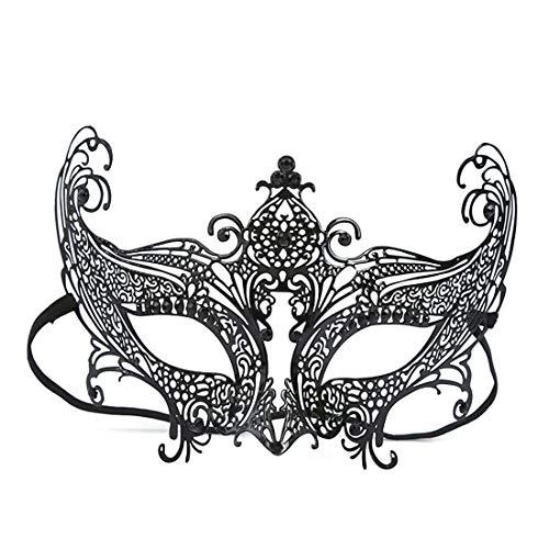 BAACHANG Halloween halbes Gesicht Eisen Maske Metallic