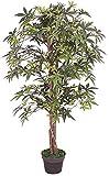 Decovego Ahorn Ahornbaum Kunstpflanze Kunstbaum Künstliche Pflanze mit Echtholz 120cm
