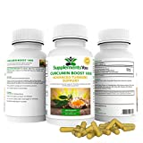 CURCUMIN BOOST 1000 ADVANCED TURMERIC SUPPORT - 60 Premium Supplements 95% Curcuminoids - REDUCING INFLAMMATION of your INTERNAL ORGANS. Can help LIVER DISORDERS. HUGE 1000mg Serving. 100% GUARANTEE! By SUPPLEMENTSYOU