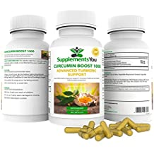 Integratore Curcumina Boost 1000 Advanced - SupplementsYou - 60 Capsule Curcuma che Aiutano a Ridurre (Bromelina Naturali)