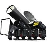 Godox 6 en 1 SA-K6 Universial Speedlite Accesorios Kit Softbox Filtro Reflector Snoot rejilla Holder