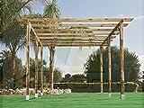 Catral Garden Kit de Pergola de 3x 2,5m avec des poteaux de 7x7cm