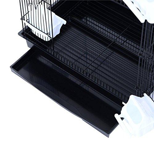 Pet Zone TALL XL BUDGIE COCKATIEL FINCH BIRD CAGE BLACK/WHITE NBH3081 (BLACK) 6