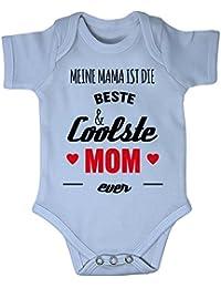 Mikalino Babybody Meine Mama ist die beste und coolste Mom ever kurzarm