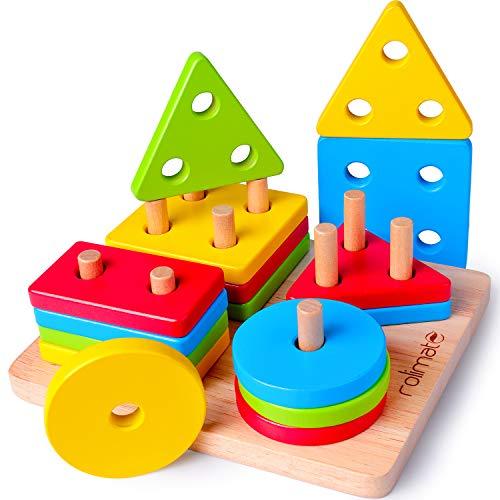 Rolimate Juguetes Niños Pequeños Apilador Geométrico