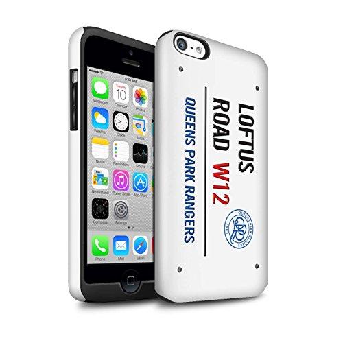 Offiziell Queens Park Rangers FC Hülle / Glanz Harten Stoßfest Case für Apple iPhone 5C / Pack 8pcs Muster / QPR Loftus Road Zeichen Kollektion Weiß/Blau