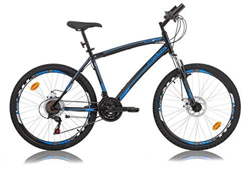 26-26-Zoll-Kinderfahrrad-Mountainbike-Federgabel-Scheibenbremse-21-GangKinder-Fahrrad-Rad-Bike-Jugendfahrrad-OUTLAND-mit-Disk-Bremse-Schwarzblau
