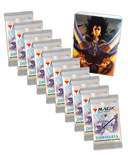 Magic the Gathering MTG Dominaria - 10x Booster Pack + Ultra Pro Dragon Box - Deutsche Ausgabe