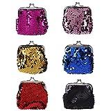 SimpleLife Frauen Haspe Geldbörse Key Münze Geldbörse Tasche, Lady Pailletten Clutch Handtasche, Kartenhalter, Schlüssel ändern Brieftasche Fall