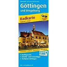 Göttingen und Umgebung: Radkarte mit Ausflugszielen, Einkehr- & Freizeittipps und Stadtplänen, wetterfest, reissfest, abwischbar, GPS-genau. 1:75000 (Radkarte/RK)
