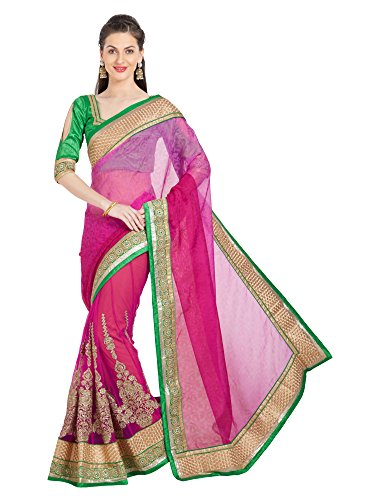 Viva N Diva Saree For Women's Embroidered & Stone Work Dark Pink Brasso Lehenga Saree ,Free Size  available at amazon for Rs.2049