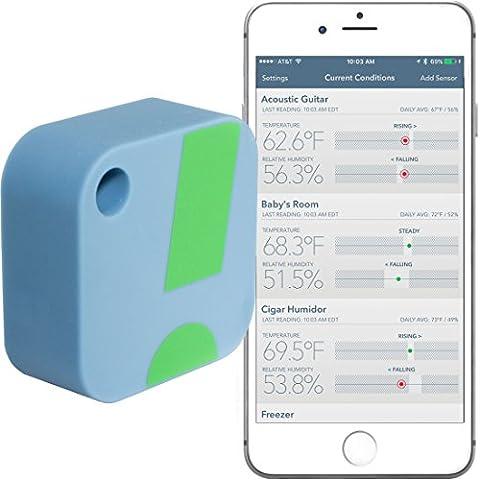 Termómetro / Higrómetro Inalámbrico SensorPush para iPhone /Android – Sensor Inteligente de Humedad y Temperatura con