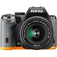 Pentax K-S2 Spiegelreflexkamera (20 Megapixel, 7,6 cm (3 Zoll) LCD-Display, Full-HD-Video, Wi-Fi, GPS, NFC, HDMI, USB 2.0) Kit inkl. 18-50mm WR-Objektiv schwarz/orange