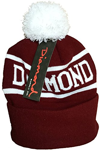 Official Diamond Supply Beanie hat with pom. One size fits all. Available in multiple colours.