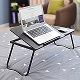 Portable Dual-Desktop-Laptop-Schreibtisch, Multi-Level-Neigungswinkel Einstellbare Office Desk, W-förmige Tischbein Schlafsofa Bed Breakfast Table, faltbare Schreibtisch Computer Desk Stand