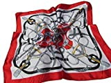 Vintage Elegant Ladies 50cm Square Head/Neck Scarf Various Styles silk satin feel fashion - by Fat-Catz-copy-catz (red chains #17)