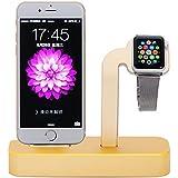 NIUTOP Apple Watch Stand, 2 en 1 Premium aluminio carga muelle estación Stand soporte para iWatch de Apple y iPhone(iPhone 5/ 5S/ 6/ 6 Plus, iWatch BASIC / SPORT / EDITION modelo) (Oro)