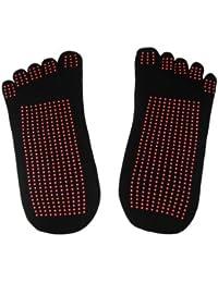 Fitness Yoga Socks Five Toe Rubberized Anti-slip Super Grip Socks