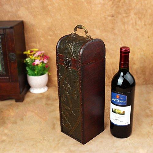 XBR kreative geschenk - box markenwein box einzelnen wein antiken hölzernen umhüllung.,Cm × 11 cm × 11,5 cm - Wein Antik