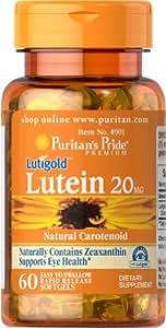 Puritans Pride Lutein 20 mg 60 Softgels