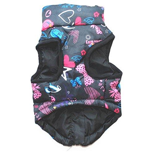 Aquiver Katze Hund Puppy Jacke Mantel, Winter Warm Pet Bekleidung,  Winddichter  Wasserdicht Kleidung