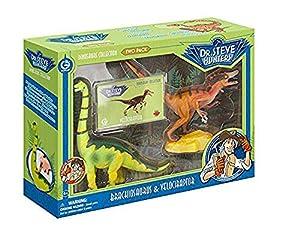 Geoworld - Velociraptor y Brachiosaurus, fguras (DeQUBE Trading S.L. CL1544K)